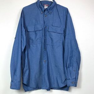 THE NORTH FACE LONG SLEEVE BUTTON UP MEN'S SHIRT